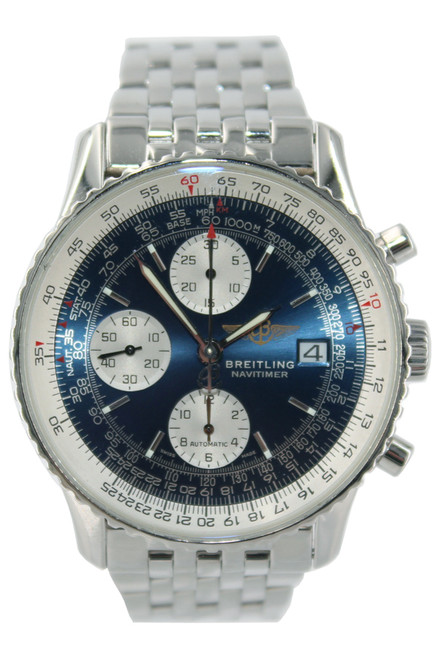 Breitling Stainless Steel Navitimer - 41mm - Blue Dial - Automatic - Ref. A13322