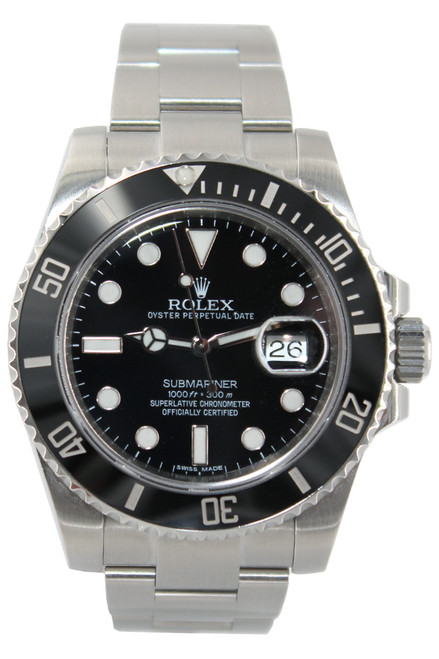 Rolex Oyster Perpetual Submariner Date - 40mm - Stainless Steel - Black Ceramic Bezel - Black Dial - Ref. 116610 (12743)