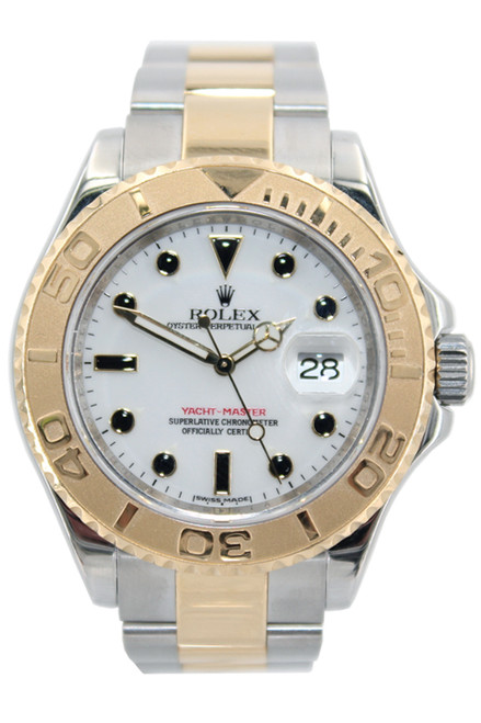 Rolex Two Tone Yachtmaster - 40mm - White Dial - Ref. 16623