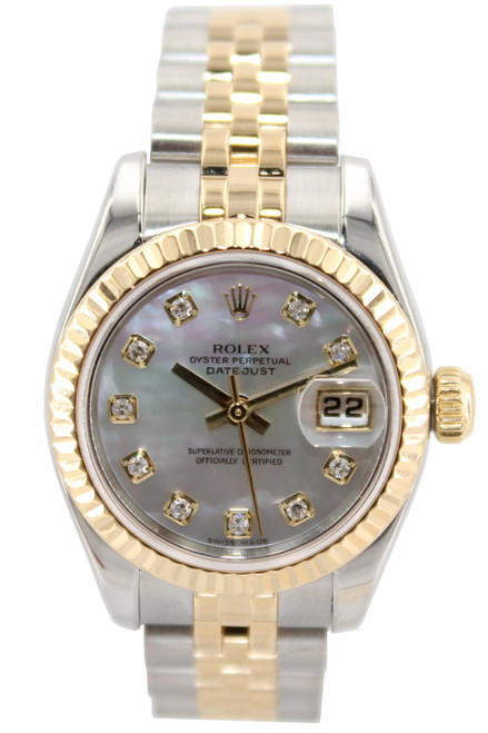 Rolex Two Tone Datejust 26mm - MOP Diamond Dial - Jubilee Bracelet - Ref. 179173