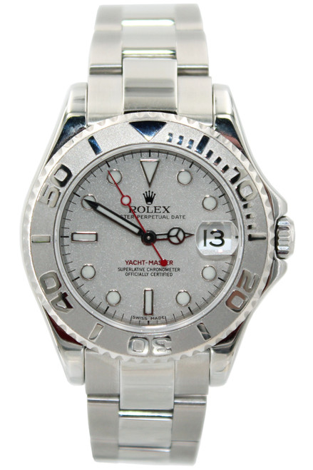 Rolex Oyster Perpetual Yacht-Master Mid-Size - 35mm - Stainless Steel - Platinum Bezel and Dial - Ref. 168622