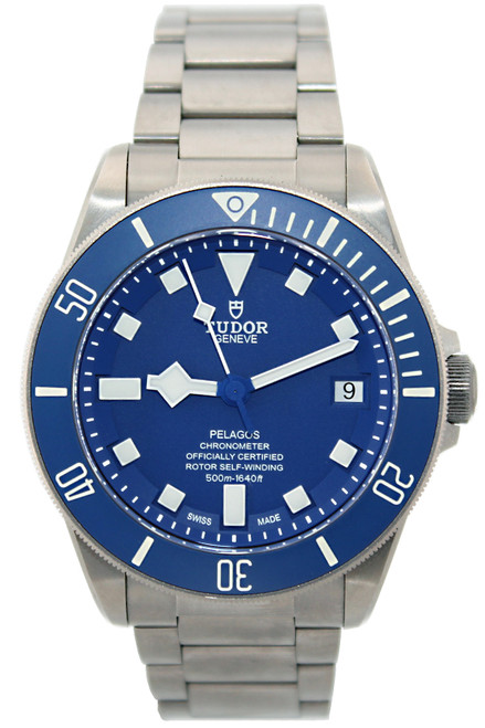 Tudor Titanium and Steel Pelagos - 42mm - Blue Dial and Bezel - Automatic - Ref.  25600TB