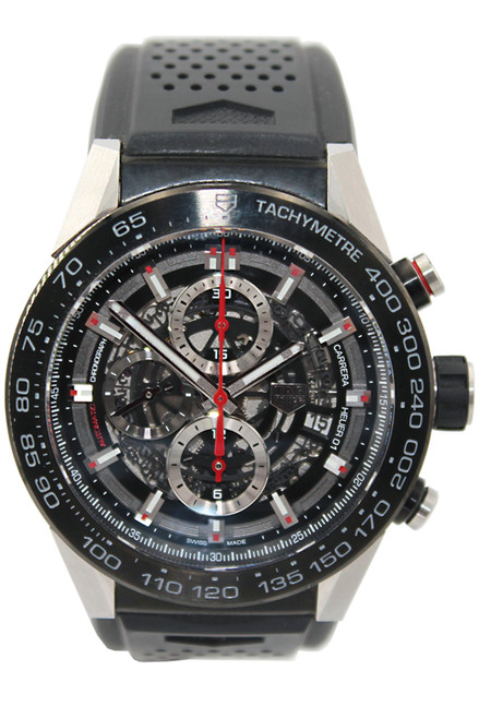 Tag Heuer Carrera Calibre Heuer 01 - 45mm - Stainless Steel - Automatic - Skeleton Dial - Chronograph - Ref. CAR2A1Z