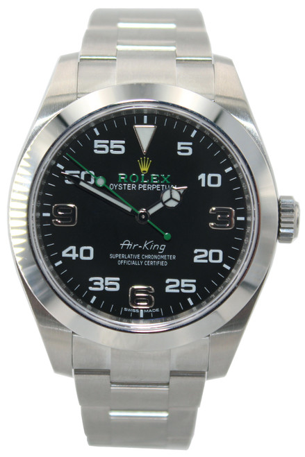Rolex Air-King - 40mm - Stainless Steel - Black Arabic Dial - Smooth Bezel - Ref. 116900