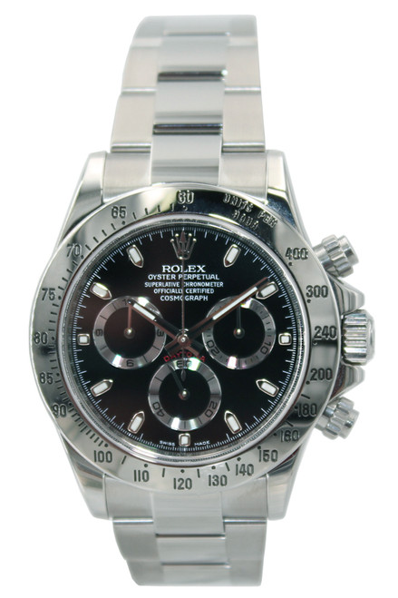 Rolex Oyster Perpetual Cosmograph Daytona - 40mm - Stainless Steel - Black Dial - Ref. 116520