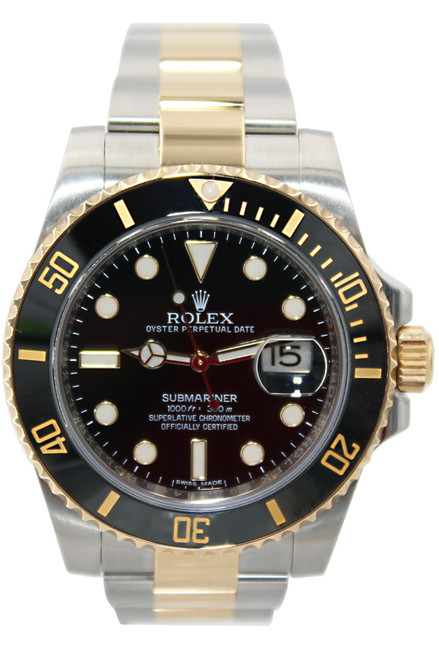 Rolex Oyster Perpetual Submariner Date - 40mm - Two Tone - Black Ceramic Bezel - Black Dial - Ref. 116613
