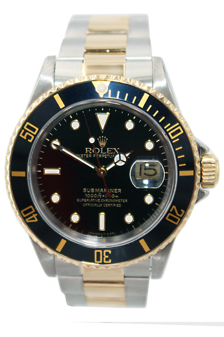 Rolex Oyster Perpetual Submariner Date - 40mm - Two Tone - Black Bezel - Black Dial - Ref. 16613
