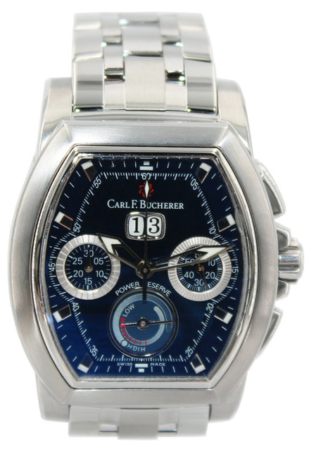 Carl F. Bucherer -  T-Graph - Stainless Steel - Blue Dial - Chronograph - Automatic Watch