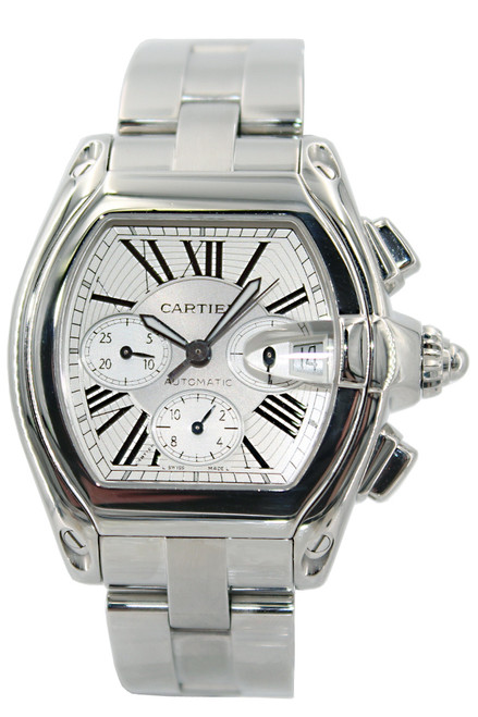 Cartier Roadster - Extra Large - Chronograph - Stainless Steel - Automatic - Ref. W62019X6