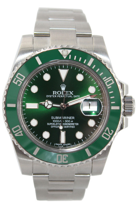 Rolex Oyster Perpetual Submariner Date - 40mm - Stainless Steel - Green Ceramic Bezel - Green Dial - Ref. 116610