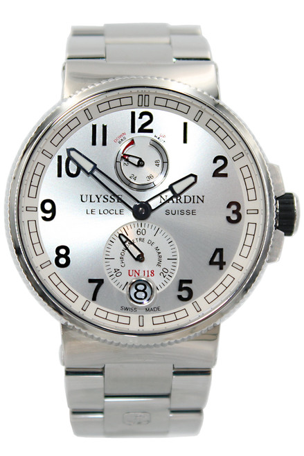 Ulysse Nardin  Marine - 43mm - Stainless Steel - Silver Arabic Dial - Stainless Bracelet - Automatic - Ref. 1183-126