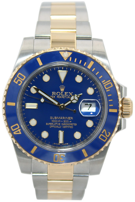 Rolex Oyster Perpetual Submariner Date - 40mm - Two Tone - Blue Ceramic Bezel - Ref. 116613