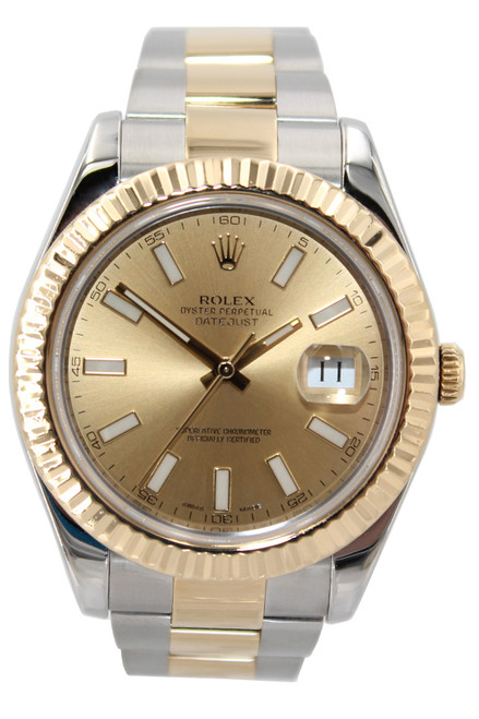 Rolex Oyster Perpetual Datejust II - 41mm - Two Tone - Champagne Stick Dial - Ref. 116333