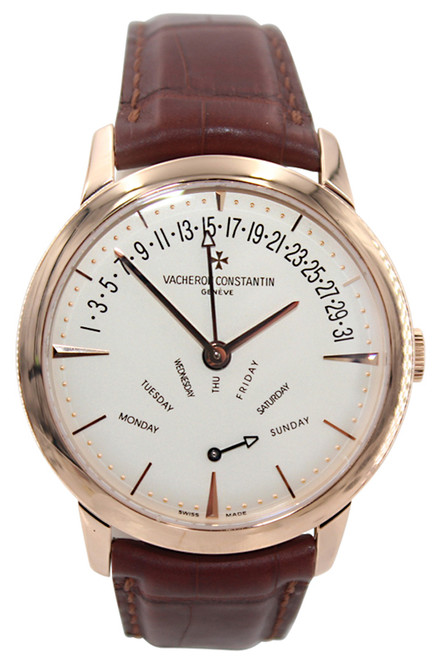 Vacheron Constantin -  Patrimony Contemporaine Retrograde - Day and Date - 42mm - 18k Rose Gold - Ref. 86020/000R-9239