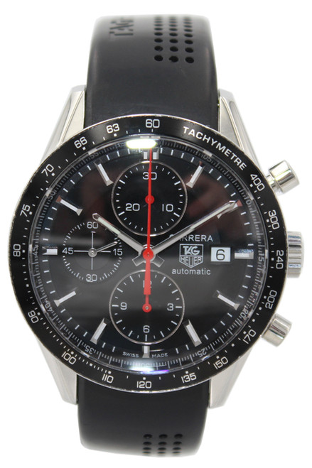 Tag Heuer Carrera - 43mm - Stainless Steel - Black Bezel - Black Dial - Chronograph - Automatic - Ref. CV2014