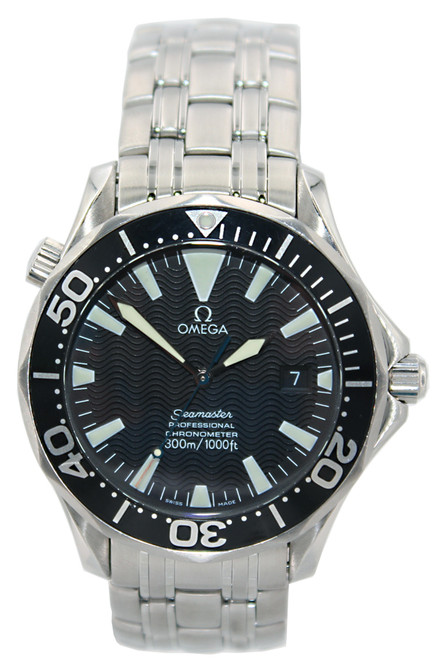 Omega Seamaster Professional - 41mm - Stainless Steel - Black Wave Dial - Black Bezel - Automatic - Ref. 2254.50.0