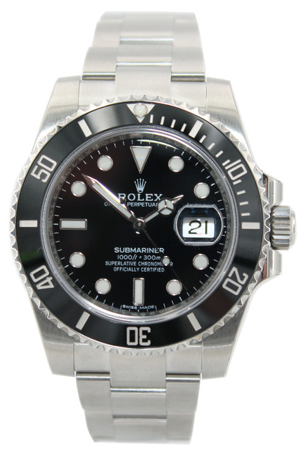 Rolex Oyster Perpetual Submariner Date - 40mm - Stainless Steel - Black Dial - Black Ceramic Bezel - Ref. 116610 (Item 12920)
