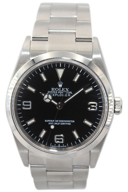 Rolex Oyster Perpetual Explorer - 36mm - Stainless Steel - Black Dial - Smooth Bezel - Ref. 114270