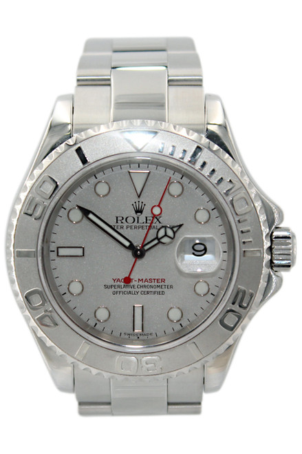 Rolex Oyster Perpetual Yacht-Master - 40mm - Stainless Steel - Platinum Dial - Platinum Bezel - Ref. 16622