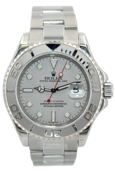 Rolex Oyster Perpetual Yacht-Master - 40mm - Stainless Steel - Platinum Bezel - Platinum Dial - Ref. 16622