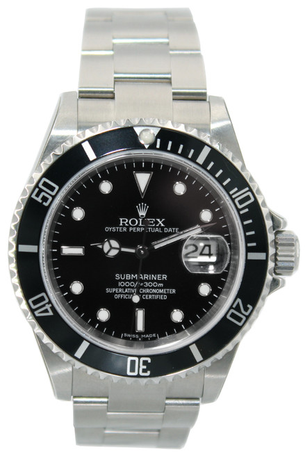 Rolex Oyster Perpetual Submariner Date - 40mm - Stainless Steel - Black Dial - Black Bezel - Ref. 16610
