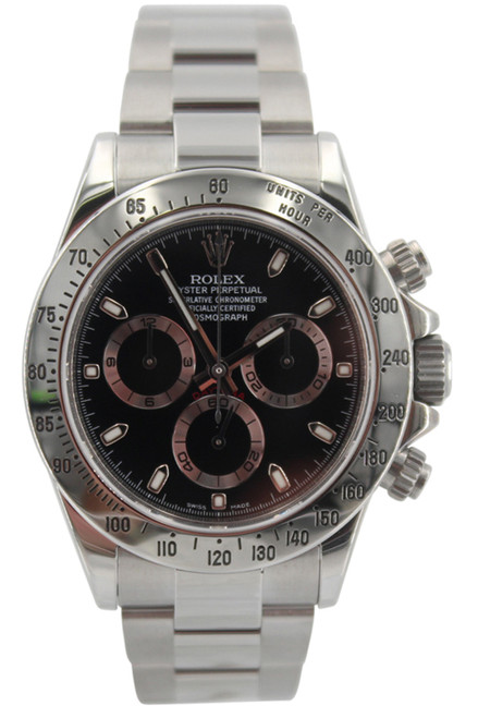 Rolex Oyster Perpetual Cosmograph Daytona-40mm-Stainless Steel-Black Dial Ref. 116520