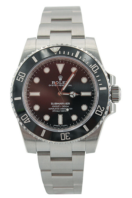 Rolex Oyster Perpetual Submariner-No Date-40mm Stainless Steel-Black Ceramic Bezel-Black Dial-Ref.114060