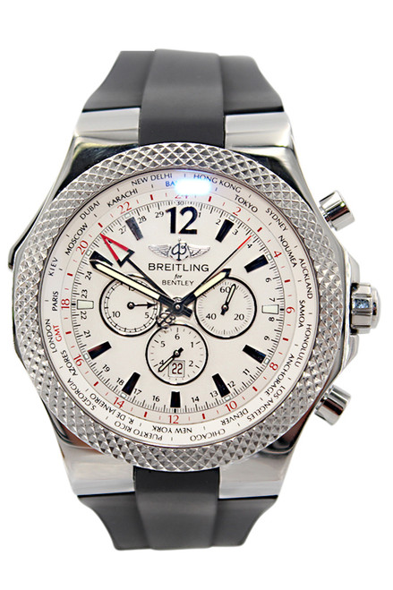 Breitling Bentley GMT Special Edition - 49mm - Stainless Steel - Ivory Dial - Chronograph - Automatic - Ref. A47362