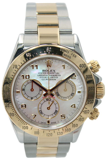 Rolex Oyster Perpetual Cosmograph Daytona - 40mm- Two Tone - MOP Arabic Dial - Ref. 116523