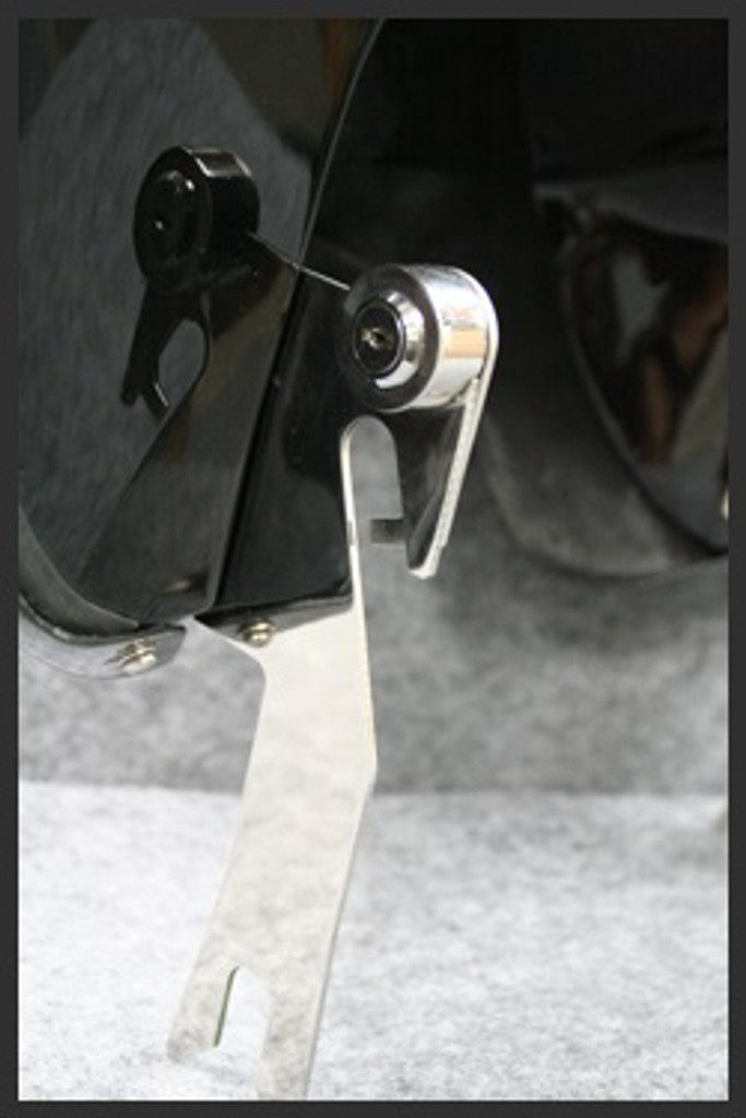 Quick detachable.  Attach and detach in seconds with just a key.   Available for all indicated motorcycles.  Reliable mounting system with very strong, mirror-polished, corrosion free stainless steel mounting brackets