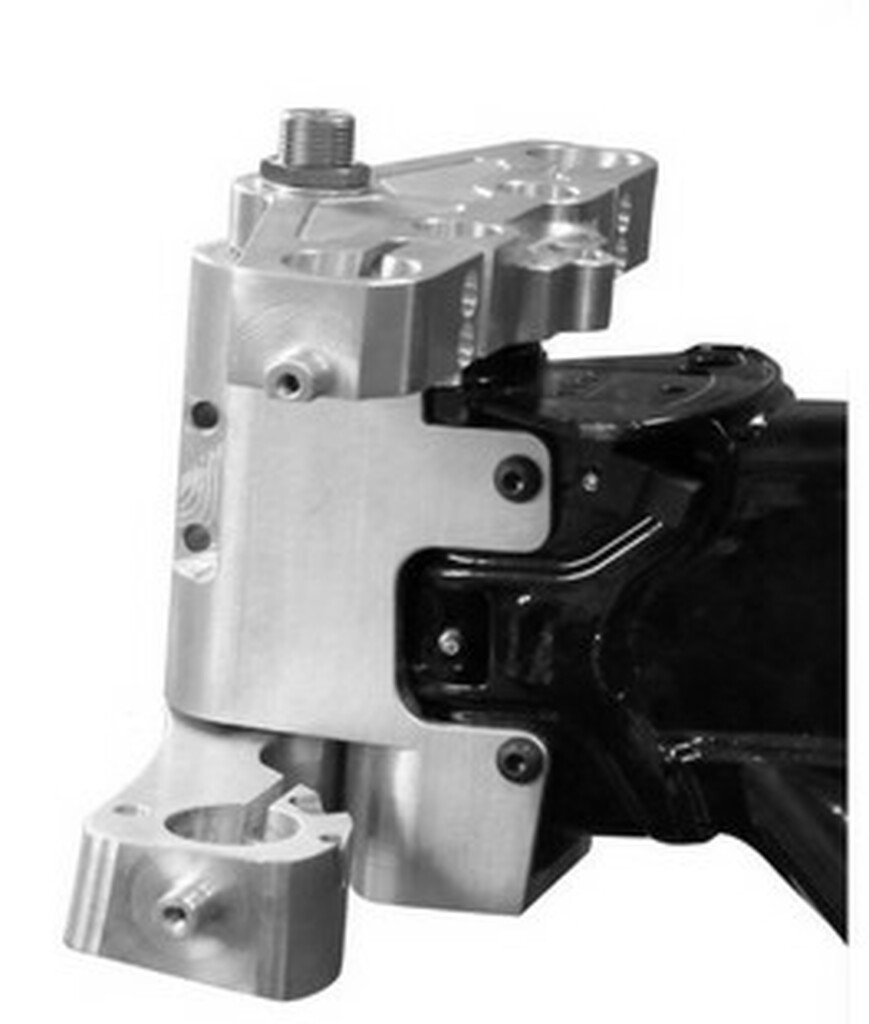 This American Suspension kit is patent pending and made in the United States of America.The American Suspension Bolt on Neck Kit for Harley bagger motorcycles gives great handling because the geometry is very similar to a weld on kit.