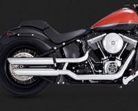 """3"""" Twin Slash Slip-Ons Chrome 2007-2014 Harley Davidson Softail Muffler"""