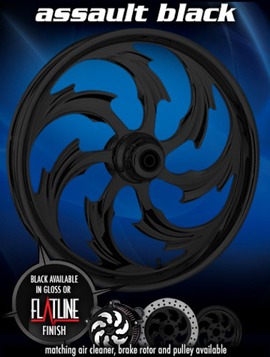 Assault Black Wheel Package - RC Components for Bike In A Box Kit