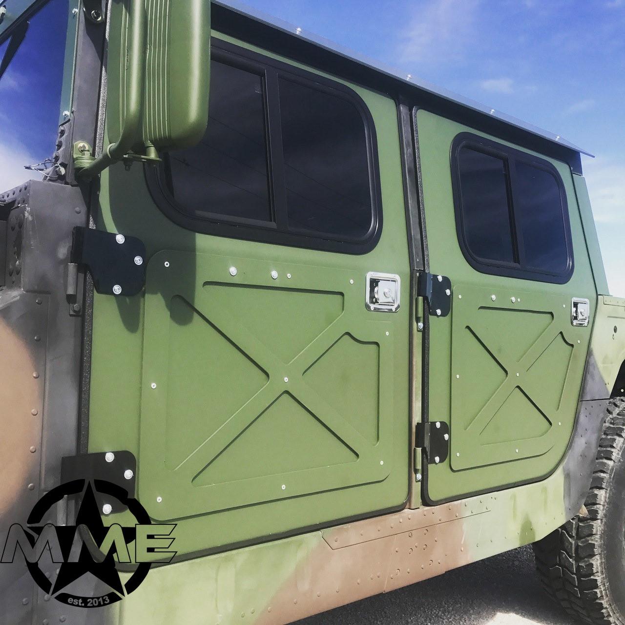 NEW Hummer H1 Military 998 Humvee Hmmwv Aluminum Hard Door Kit (set of 4) & NEW Hummer H1 Military 998 Humvee Hmmwv Aluminum Hard Door Kit (set ...