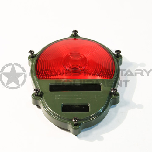 2.5 TON M35A2 M SERIES REAR TAIL LIGHT COVER ONLY. RED.