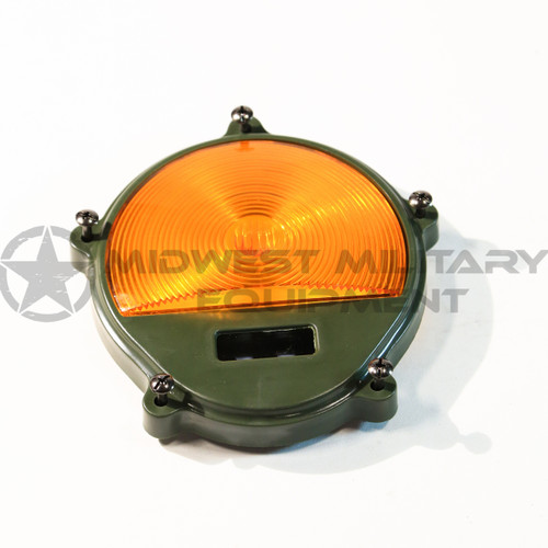 2.5 TON M35A2 M SERIES FRONT TURN PARK LIGHT COVER ONLY. AMBER.