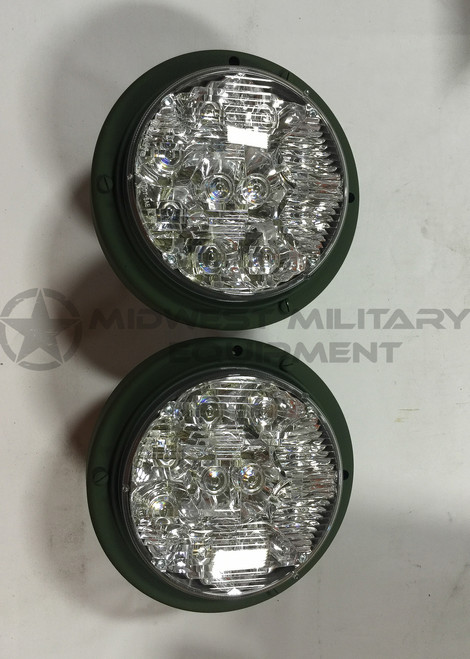 2 LED Headlights Military Truck Lite 24V