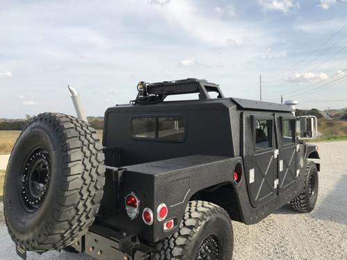 "Black 4 Man HMMWV M1123 1/4"" Aluminum Hard Top Humvee SOLD"