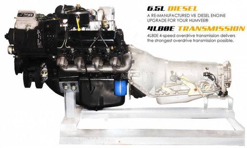 Complete Humvee Powertrain Upgrade Kit, 6.5L Non-Turbo & 4L80E, Pull Out