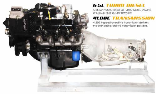 Complete Humvee Powertrain Upgrade Kit, 6.5L Non-Turbo & 4L80E, Remanufactured