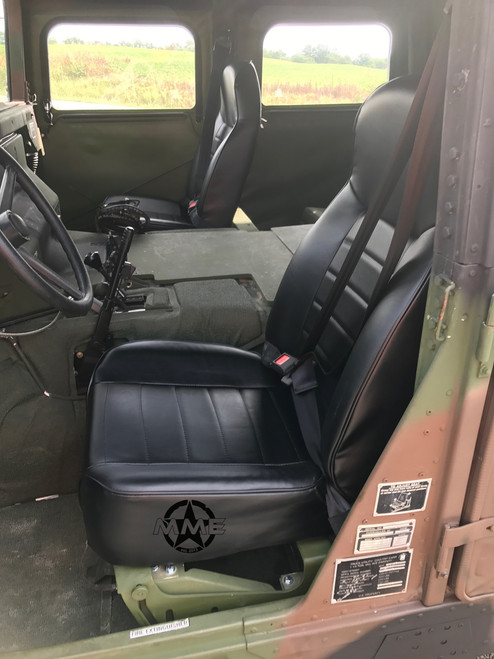 Black Vinyl Bucket Seat (single)