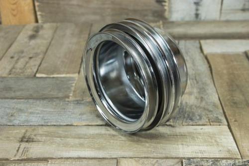 65-68 FORD CRANKSHAFT PULLEY CHROME 3 GROOVE