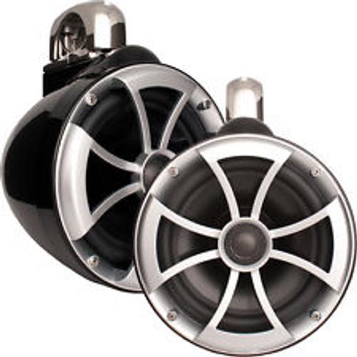"8"" Black Tower Speakers w/Mini Fixed Clamp (Polaris)"