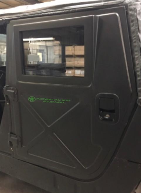 NEW Humvee Fiberglass Power X Door Kit