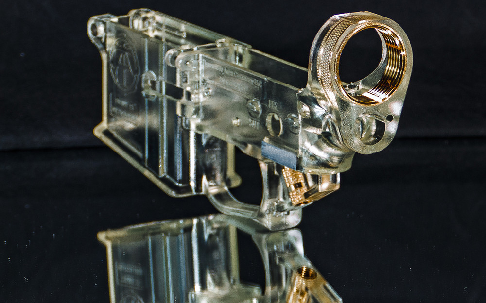 Flame Polished Clear AR Lower/ Display Only