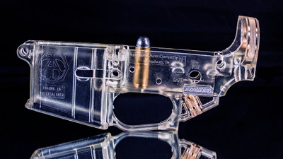 Clear AR15 Style Receiver Display  Model
