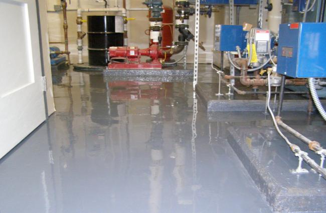 chemical production area floor