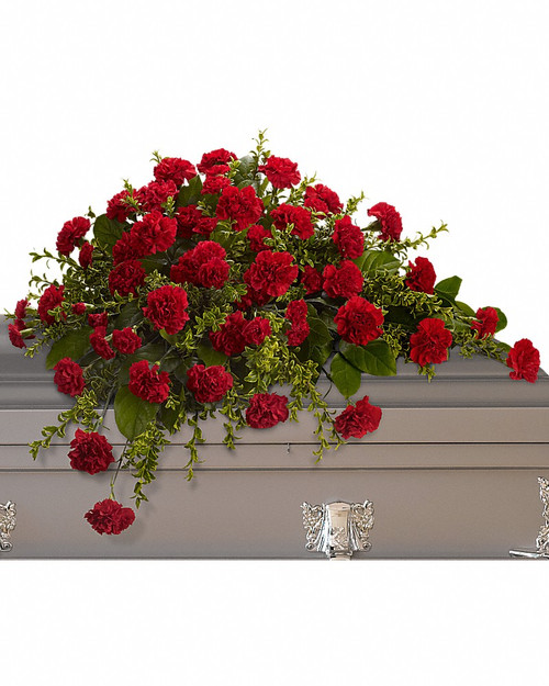 All Carnation Casket Spray-T242-2A