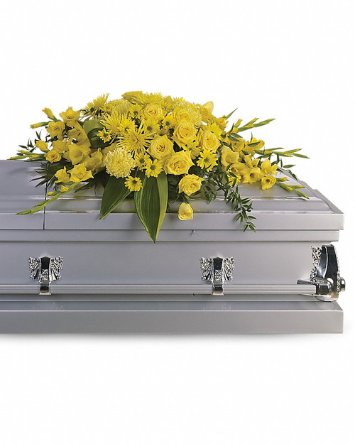 All Yellow Casket Spray-T242-1A