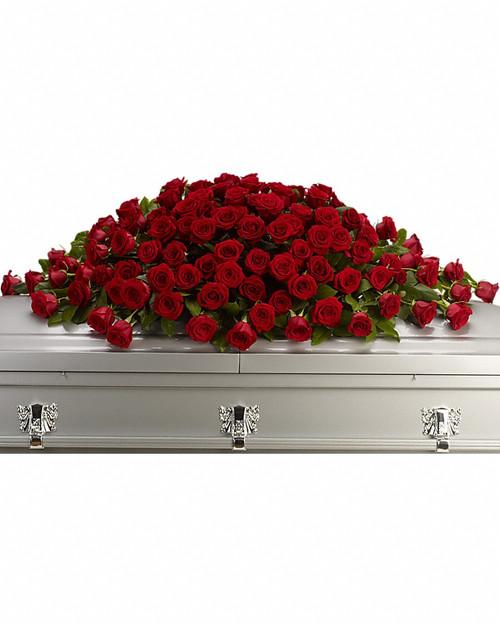 All Red Rose Casket Spray-FNRR-01